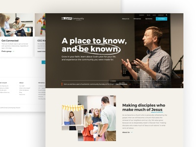 Christ Community Church Website figma jesus local church church illustration typography web design web brand ux ui
