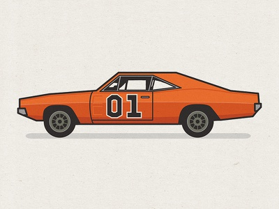 General Lee - Rebound general lee dukes of hazzard car illustration flat