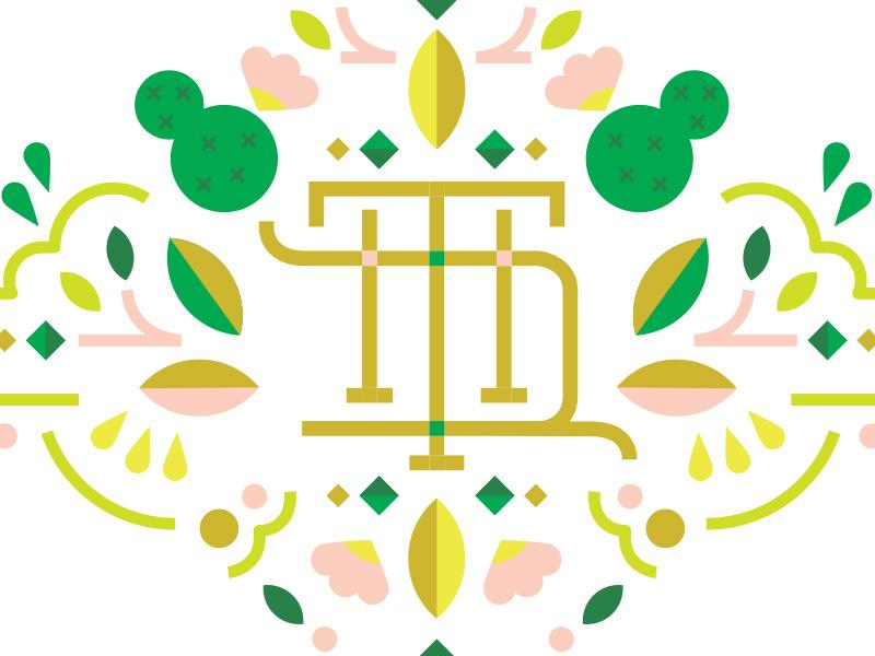 Thd Dribble Shot Thd3 line art flourish pattern logo monogram