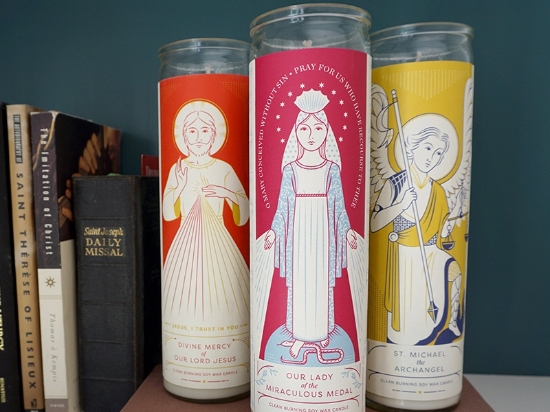 Providential Co. Prayer Candles catholic religious labels candles