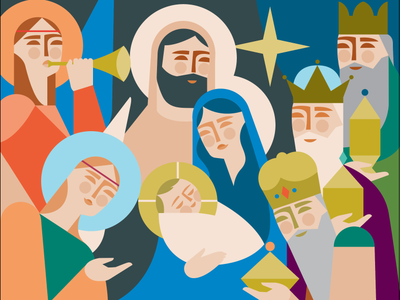 Nativity wise men christ nativity christmas illustration christian