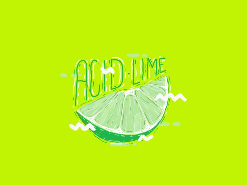 Acid Lime ipad pro lime fruit type procreate artwork design calligraphy typography illustration