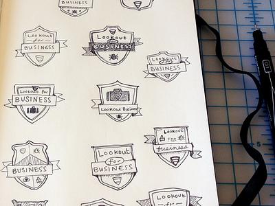 crests badge crest icon sketch