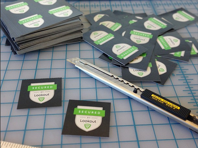 Stickers sticker crest shield print flat logo type typography