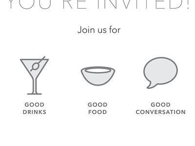 invited icon flat invite type