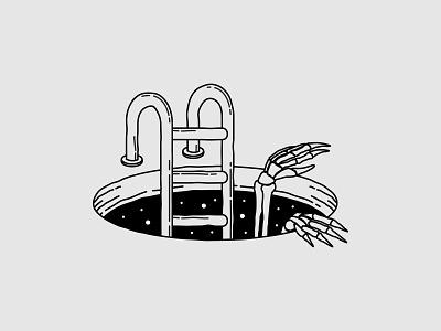 Blackhole logo type vector illustration design branding