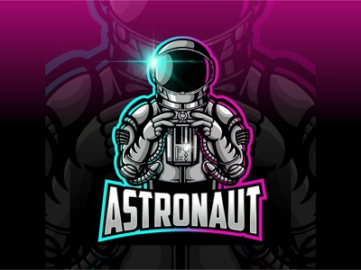 Esport Logo astronaut