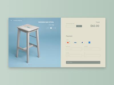 #dailyui #002 - Credit Card Checkout form design webdesign checkout dailyui ui