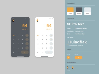 #dailyui #004 - Calculator