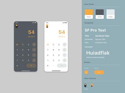 #dailyui #004 - Calculator app design ios app minimalistic clean switch button dark mode calculator app flat calculator app design dailyui