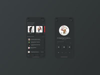 #dailyui #009 - Design a music player dark theme dark dark mode ux skeuomorphic music app music player music balance application layout app clean design ui dailyui