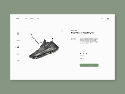 #dailyui #012 - E-Commerce Shop(Single Item) shoes webpage product shopping branding layout flat webdesign web typography ui clean design dailyui