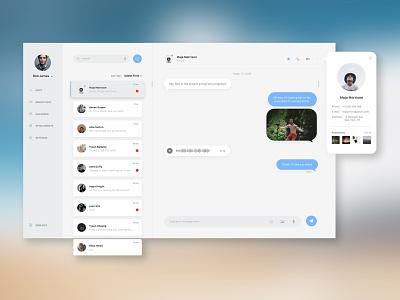 #dailyui #013 - Direct Messaging desktop app message chat app app design ux app layout webdesign web typography ui design dailyui