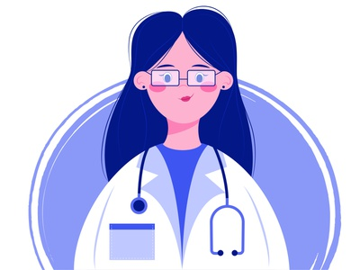 Doctor doctor people hospital website help flat illustration web graphic girl treatment medical nurse professional job woman 2d design character illustration vector