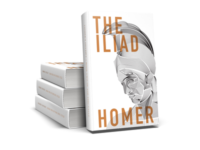 The Iliad Book Cover cover art book cover art type design illustration book cover cover book