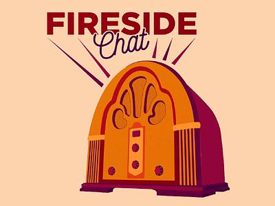 Fireside Chat adobe illustrator graphic design radio fireside chat