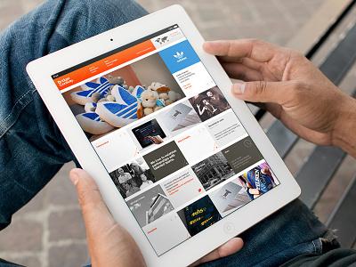 Ipad - Landing Page ui mobile web