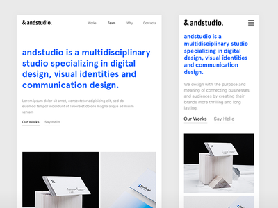 &andstudio responsive clean interface user interface design bootstrap layout grid layout branding agency web design mobile experience web service design portfolio design ux ui reponsive layout grid minimal web design casestudy layout