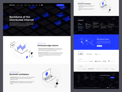 NOIA - Landing Page ico landing page minimal clean design blockchain website ui ux decentralized network content delivery internet ico dark landing page ui token site cryptocurrency crypto bitcoin