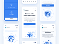 Arweave - Landing Mobile serverless hosting security hosting platform data storage bitcoin cryptocurrency crypto dark landing page ui content delivery decentralized network ui ux blockchain website minimal clean design