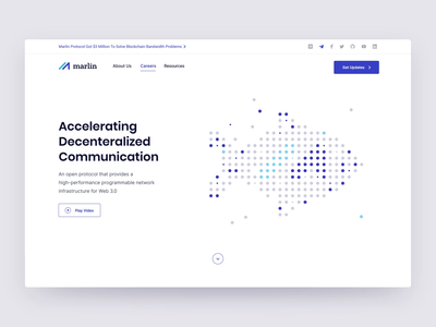 Marlin.pro - hero animation animation web design network animation web design user interface design decentralized network product design bootstrap layout cryptocurrency crypto blockchain website analytics dashboard minimal clean design ui ux