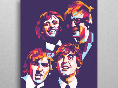 The Beatles illustration illustrator poster poster art portait pop art legend music art art music rock rock band beatles thebeatles the
