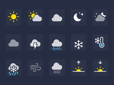iOS Weather Icons ios iphone ipad mobile weather icons
