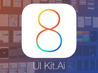 iOS 8 Vector Ui Kit (.ai) ui gui ios8 ios iphone ipad kit free freebie vector illustrator ai