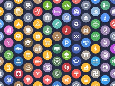 Apple's Spotlight Location Icons iphone ipad ios icons mobile maps