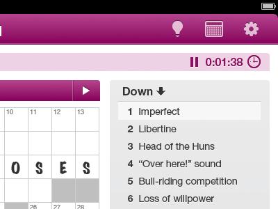 USA TODAY iPad Crossword Detail ipad usatoday crossword puzzle game ui