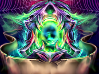 Scull Fracturize Custom Illustration Photoshop Wacom Cintiq Game