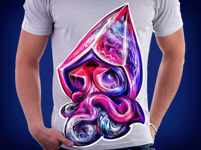 Octopus squidly daily fun 02  by fracturize montenegro design game apparel octopus illustration fracturize