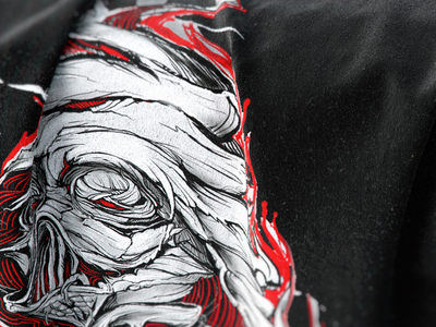 Mummyvader..something is cooking :D clothing illustration custom apparel design apparel tshirt vader mummy