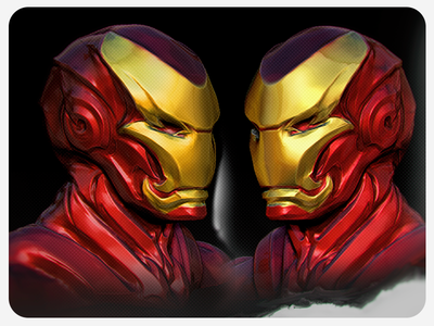 Ironman daily sketch by Fracturize armor mask helmet 3d sculpting modeling fracturize custom zbrush marvel stark ironman