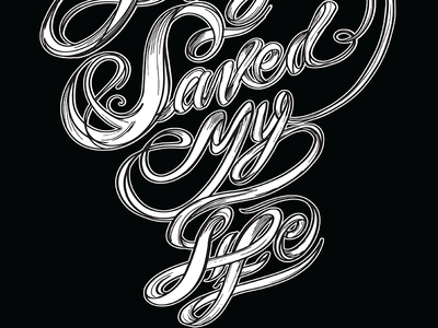 Prayers saved my life Tshirt lettering by fracturize lettering custom type fracturize custom tshirt tshirt custom apparel custom illustration church life prayer