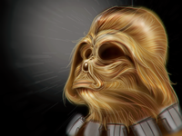 Wookie Vader  sketch by  Fracturize