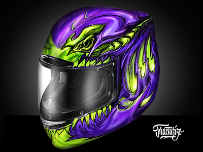 Motorcycle Helmet custom paint wip by fracturize game art mobile game design versus magic fighting screen montenegro custom game design game custom design custom illustration daily fracturize