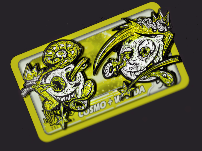 Cosmo and Wanda pin design by Fracturize by Nemanja