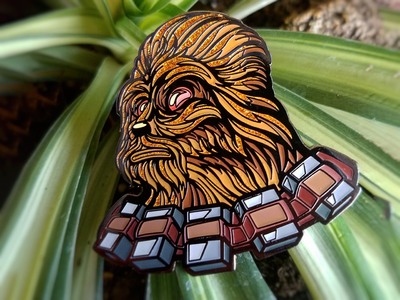 Custom Darth Chewie pin design by Fracturize force patch pin enamelpin illustration fracturize sith starwars vader chewie darth