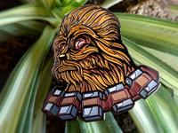 Custom Darth Chewie pin design by Fracturize