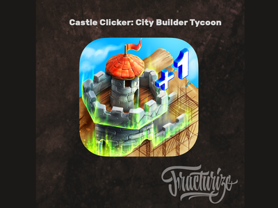 Castle Clicker City Builder Tycoon icon design by fracturize game app android app game strategy android appstore appicon gameicon ui fracturize