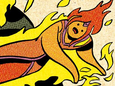 Flame Princess penciling inking coloring cartooning
