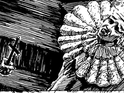 Coppola's Stoker's Dracula penciling inking illustration