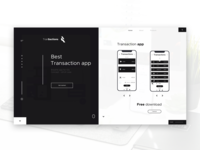 Black and White - Transaction App  Landing page