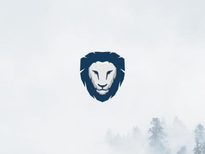 Lion's Head strong bold logo animal logo animal illustration logo design identity branding