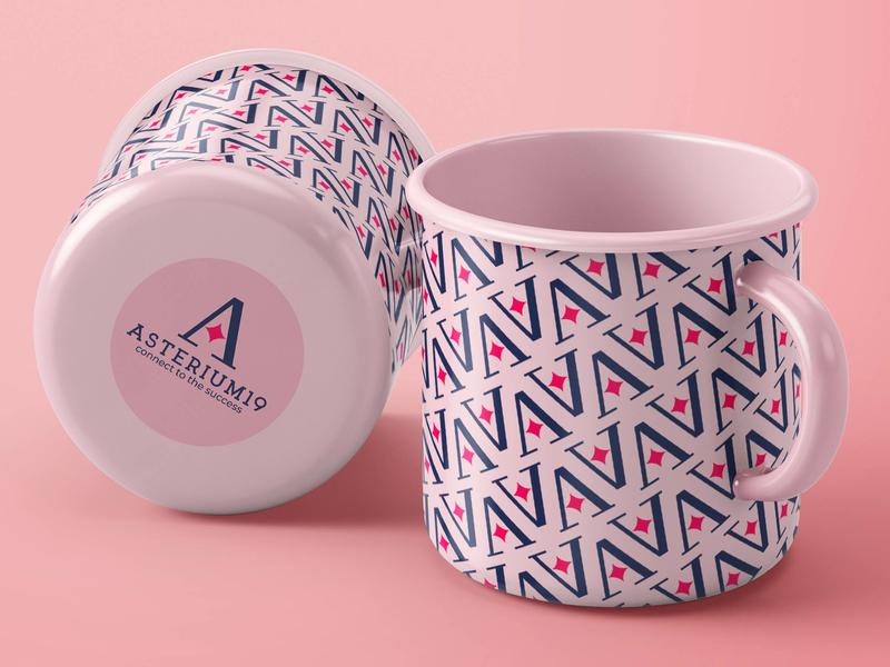 Logo and pattern for asterium pattern design abstract design design brand illustration logo design logo identity branding