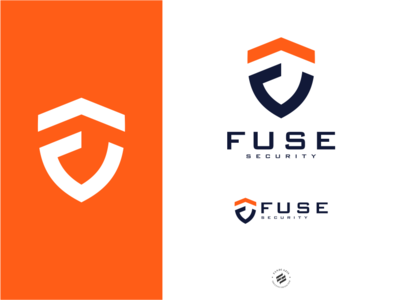 Fuse bold branding logo design initial shield logo identity logo