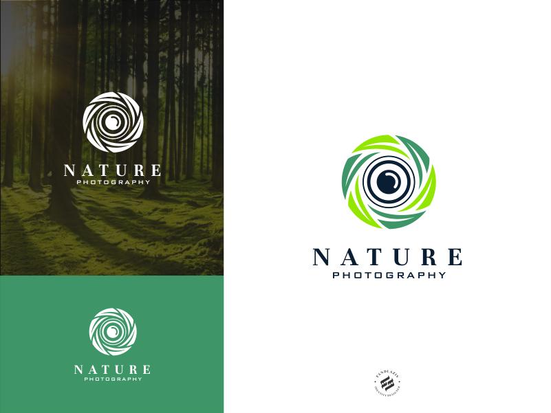 Nature green organic leaf identity simple photography nature logo