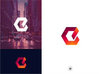 Geometric E strong bold initial logo brand identity logo design branding identity
