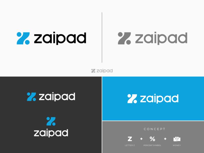 Logo Design for zaipad.com investment financial simple strong brand design branding bold logo identity